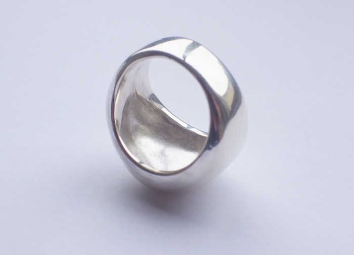 リング/シルバー/ring/silver/彫金専門学校/体験/仕上げ/アートワックス/DOVE