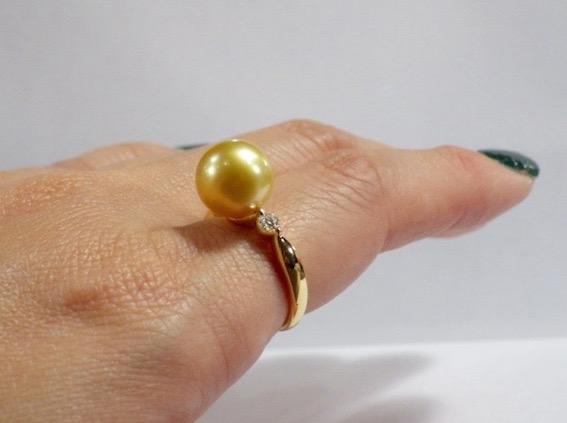 彫金教室ー〈南洋真珠のリング〉