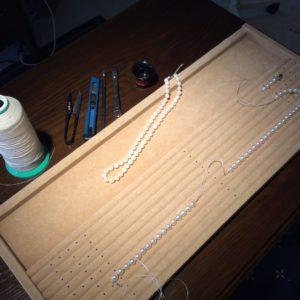 パール糸組み